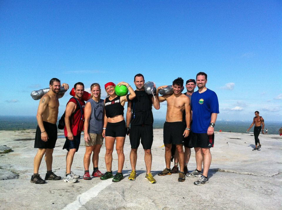 Obstacle Race Sand Bag Mountain Training