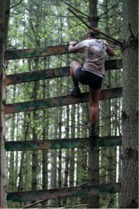 Obstacle Race Ladder Climb