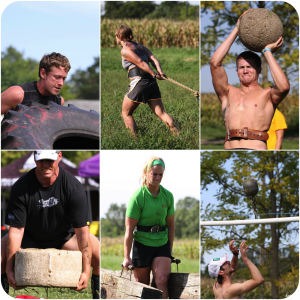 Strongman competition during endurance race