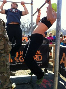 super spartan pull ups with Andi Hardy
