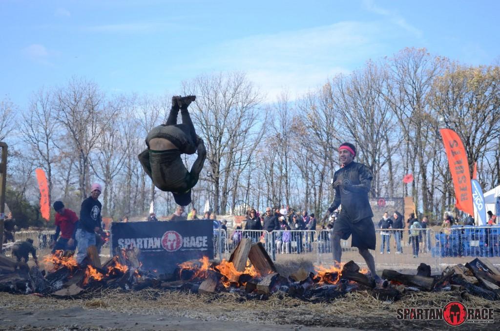 fire jump spartan race obstacle race
