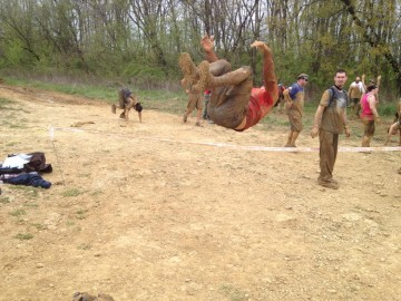 Laurel Indiana Spartan Race Sprint Back Flip Burpee