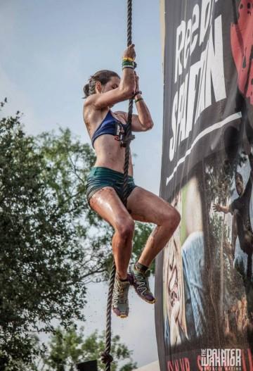 Corinne Kohlen Spartan Pro Elite Athlete Rope Climb Texas Spartan Race Sprint