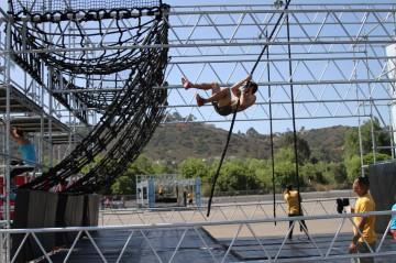 tony matesi alpha warrior rope swing cargo net climb