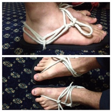 Barefoot Luna Sandals DIY Spartan Race