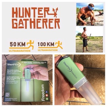 fuego y agua survival run hunter gatherer steripen uv light water purification purifier